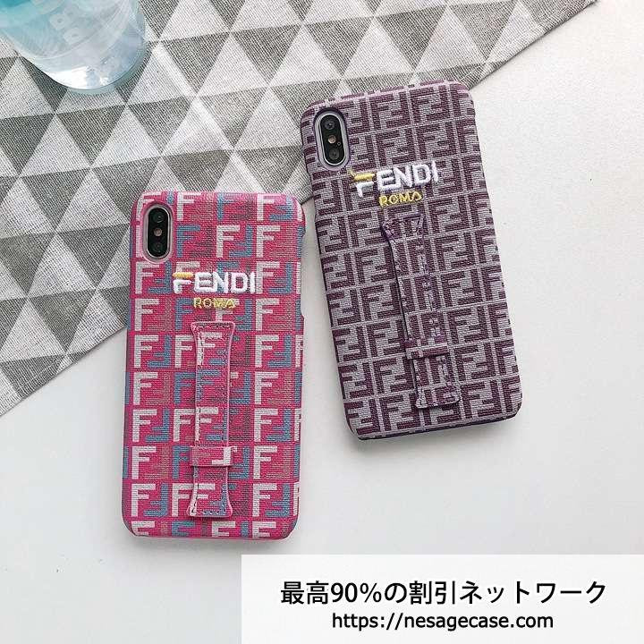 フェンディ iphoneXsケース 手持ちベルト付き