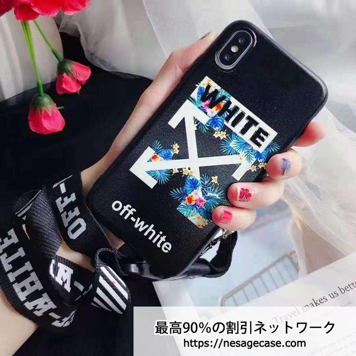 オフホワイト iPhoneXs 花柄ケース